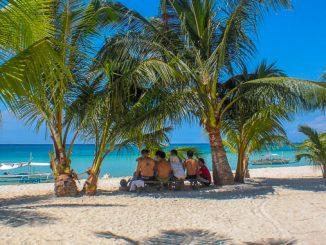Strand auf der Insel Bantayan, Philippinen