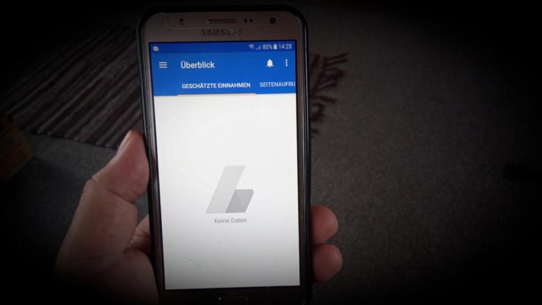 Keine Daten mehr auf der AdSense App