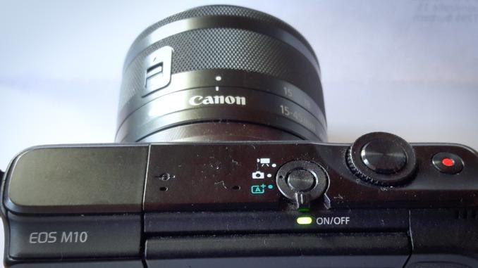 Canon EOS M10 Draufsicht