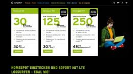 Der Congstar Homespot Tarif: 20 GB für 20 Euro