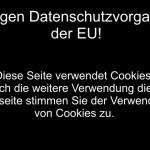 Cookie Richtlinie – Keine Angst vor dem schwarzen Balken!