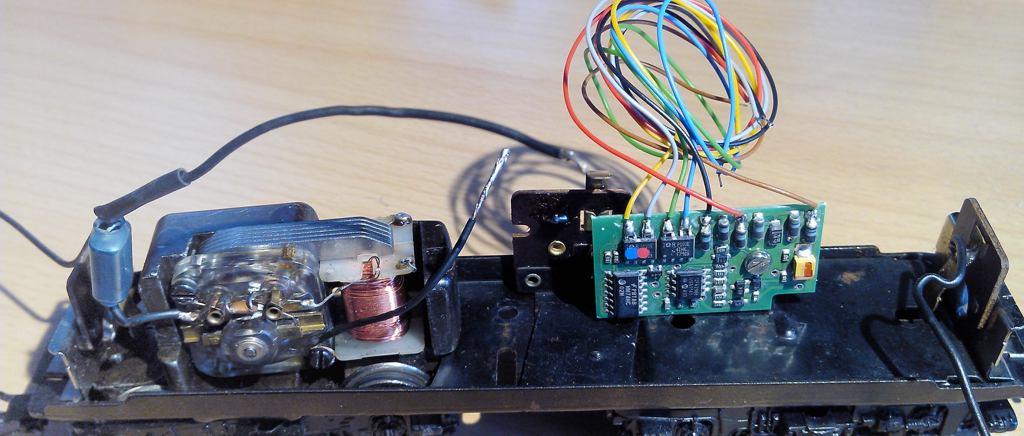 Märklin 3034 mit eingebautem Decoder