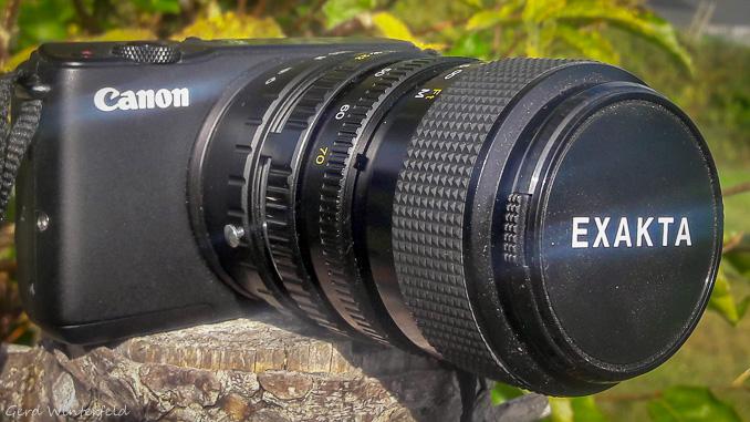 EOS M10 mit Exakta - Minolta MD Objektiv