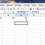 Excel Leere Zellen per Wenn – Dann Funktion