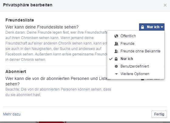 Facebook Freundesliste Bearbeiten