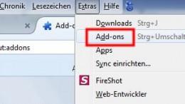 Firefox Erweiterungen und Plugins