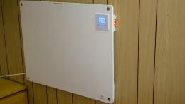 Infrarotheizung mit Thermostat, Wandmontage