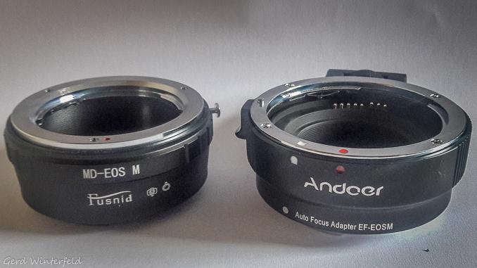 Kamera Adapter für alte Objektive