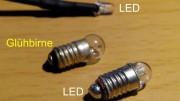 Glühbirnchen gegen LEDs austauschen