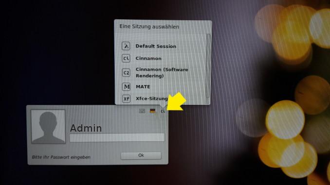 Linux Mint Desktop auswählen