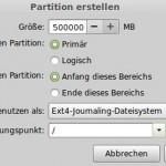 Festplatte für Linux aufteilen (partitionieren)