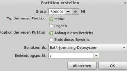 Festplatte unter Linux partionieren