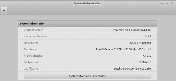 """Linux Version mit dem Programm """"Systeminformation"""" Anzeigen"""