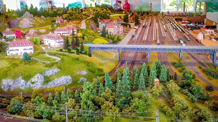 Modellbahnschau Hachenburg Bahnhofsbereich