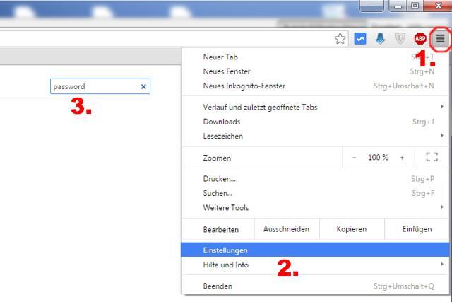 Passwörter Anzeigen in Google Chrome