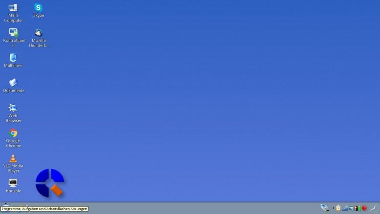 Screenshot Q4OS Arbeitsfläche