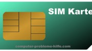 Die SIM-Karte für'S Handy