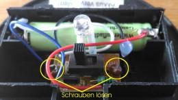 So sieht es im Inneren einer Solarlampe aus.