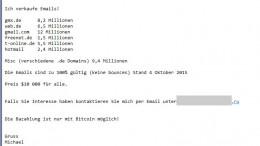 Spammer wollen Email Adressen verkaufen