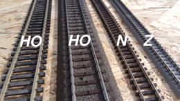 Spurweiten der Modelleisenbahn