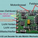 Tams Decoder LD-W-32 Anschlußbelegung