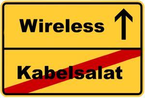 Kabellos, Wireless, Kabelsalat